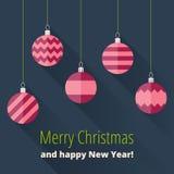 Julkort med julgarnering Arkivbilder