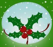 Julkort med mistletoen arkivfoton