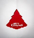 Julkort med origamijulgarneringen. Arkivbild