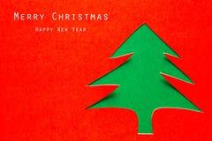 Julkort med origamijulgarneringen. Fotografering för Bildbyråer