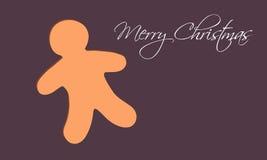 Julkort med pepparkakan royaltyfri illustrationer