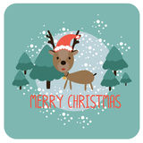 Julkort med renar Arkivfoto