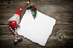 Julkort med Santa Royaltyfria Bilder