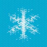 Julkort med snöflingabeståndsdelen Arkivfoto