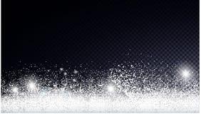 Julkort med snow vektor illustrationer