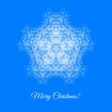 Julkort med snowflaken Fotografering för Bildbyråer