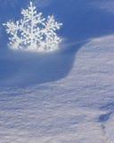 Julkort med snowflaken - materielfoto Royaltyfria Bilder
