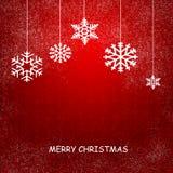 Julkort med snowflakes Royaltyfri Foto