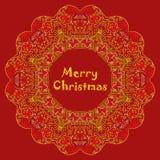 Julkort med text för glad jul med Royaltyfri Bild