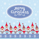 Julkort med textboxen Royaltyfria Bilder
