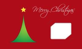 Julkort med treen vektor illustrationer