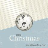 Julkort - retro stil Stock Illustrationer