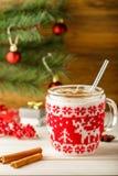 Julkort utan folk Feriedrink av eggnog Expen Royaltyfria Bilder