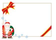 Julkort - vektorram av santa och snö vektor illustrationer
