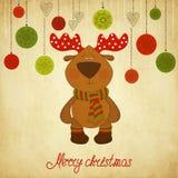 Julkortet med en hjort Arkivfoto