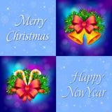 Julkortet semestrar sammansättningsbakgrund av vektorillustrationen stock illustrationer