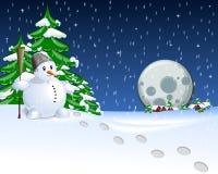 Julkortnatt Arkivbild