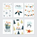 Julkortuppsättning Royaltyfria Bilder