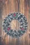 Julkran på en träbakgrund Royaltyfri Fotografi