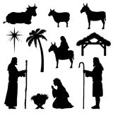 JulKristi födelseSymbol-herde stock illustrationer