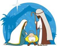 julkrubba vektor illustrationer