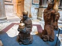 Julkrubba i panteon i Rome Royaltyfria Bilder