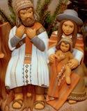 Julkrubba med den heliga familjen i söder - amerikansk version 7 Arkivbild
