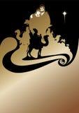 Julkrubba och de tre kloka männen Royaltyfri Fotografi