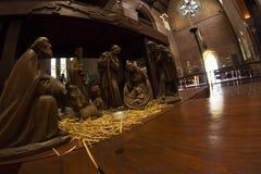 JulkrubbaKristi födelse av Jesus, trevlig Jesus födelse som göras av wood Perth Australien Arkivbilder