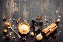 Julkryddor för kakor Arkivfoto