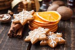 Julkryddor och pepparkaka Arkivbilder