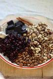 Julkryddor och stekheta ingredienser Royaltyfri Bild