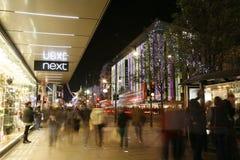 Jullampor i London Royaltyfria Bilder