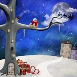 Jullandskap royaltyfri illustrationer