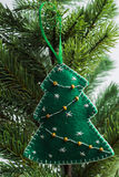 Julleksak - gran-träd Arkivbild