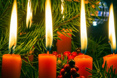 Jullevande ljus arkivbilder