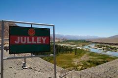 Julley è parola del saluto di Ladakhi, Ladakh, India Fotografia Stock Libera da Diritti
