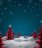 Julliggande Royaltyfri Bild