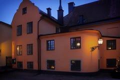 Julljus av Stockholm arkivbild