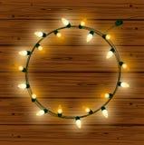 Julljus för garnering royaltyfri illustrationer