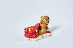 Julljus i formen av en björngröngöling Arkivfoton