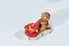 Julljus i formen av en björngröngöling Arkivbild