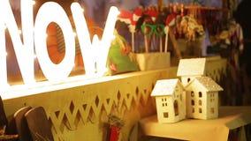 Julljus och garneringar, nytt års upplösning, löfte att starta nu arkivfilmer