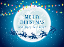Julljus och jultomten stock illustrationer
