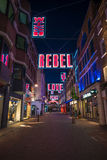 Julljus på den Carnaby gatan, London UK Arkivbild