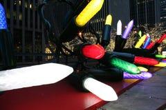 Julljus på den 6th avenyn Arkivbilder
