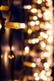 Julljus på en ställning för gatamarknad Royaltyfria Foton