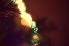 Julljus, unfocused bakgrund Arkivfoto