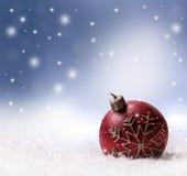 Julljussnö och abstrakt bakgrund för utrymme Royaltyfri Fotografi