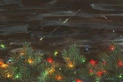 Jullynnebegrepp Festlig bakgrund för vinterferier royaltyfri foto